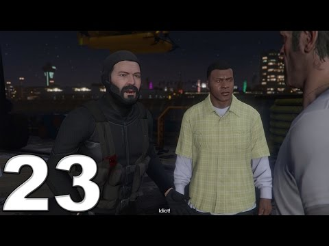 Grand Theft Auto 5 PS4 Gameplay Walkthrough Part 23 - The Merryweather Heist!! (Off Shore)