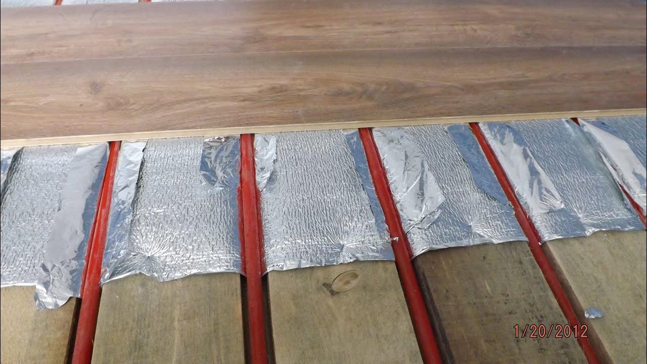 Download video: теплый пол под ламинат без цементной стяжки.