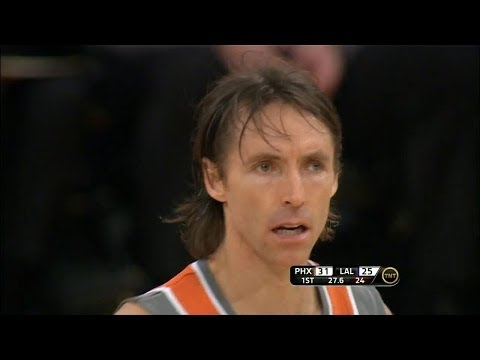 Steve Nash Full Highlihts 2011.03.22 at Lakers - 19 Pts, 20 Assists, Triple OT game