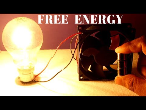 Free Energy Light Bulbs Using Magnet and Pc Fan - Free Energy Bedini motor thumbnail
