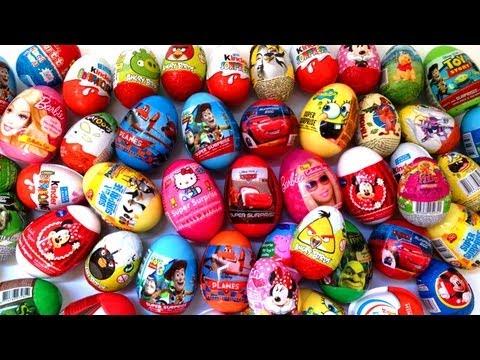 ★★ 25 Surprise Eggs ★★ Spiderman. Angry Birds. Barbie. SpongeBob. Kinder Egg - Toys