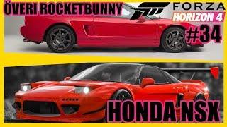 Överi Rocketbunny Honda NSX | Forza Horizon 4 #34 Thrustmaster T300RS