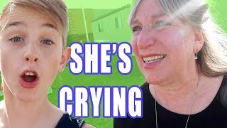 Emotional telling the kids and Grandma We're Pregnant!
