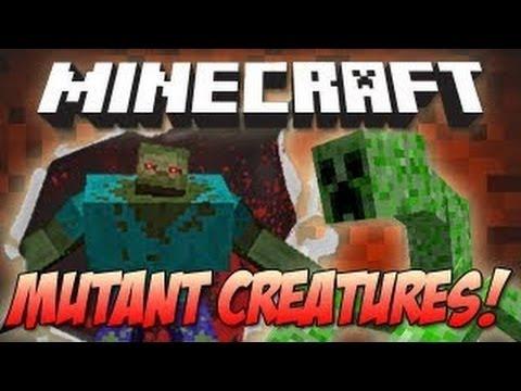 Minecraft Mod Showcase Mutant Creatures - مود الموبز المختلفين