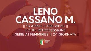 Serie A1F [2^ Poule Retrocessione]: Leno - Cassano Magnago 23-26