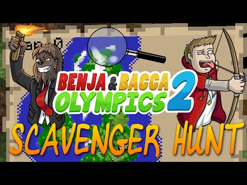 Chubby Bunny Challenge Benja & Bacca Olympics 2: Scavenger Hunt ALL Items - Game 8! (Minecraft)
