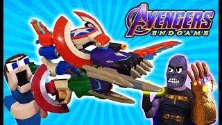 NERF Avengers ENDGAME 2019 Assembler Gear ULTIMATE Blaster!! THANOS vs Puppet Steve WAR Unboxing