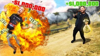You DIE, You LOSE $1,000,000! | GTA5