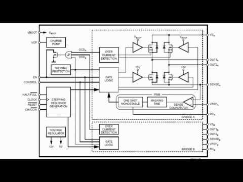 шагового двигателя L6208