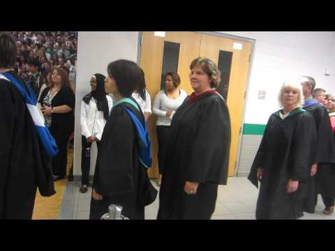 2012 South Lakes High School Graduation: The staff and student speakers come in