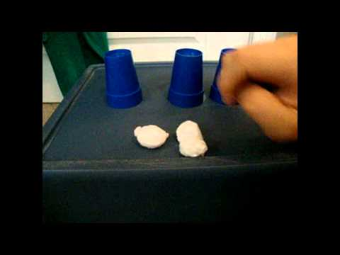 3 cups and balls magic trick revealed