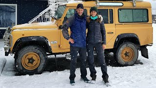 Overland Canada in Winter. From Vancouver to Whitehorse - Part 1. Land Rover Defender.