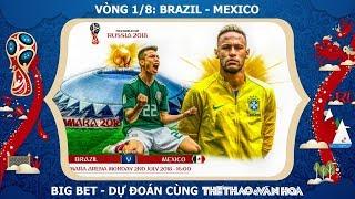 Vòng 1/8 World Cup 2018: Brazil vs Mexico - Đến lượt Neymar về nước?