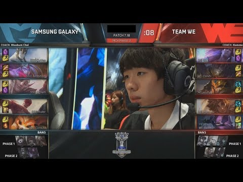 SSG (Crown Galio) VS WE (Xiye Taliyah) Game 4 Highlights - 2017 World Championship Semifinals