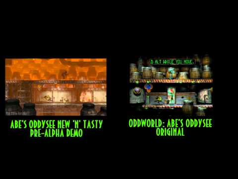 Oddworld: Abe's Oddysee - New 'N' Tasty VS Original - Side-by-side comparison