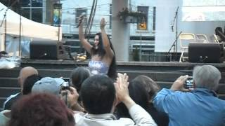 Giorgia Fumanti at Yonge and Dundas Square