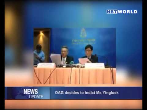 OAG Decides to Indict Ms Yingluck
