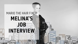 Melina's cool, semi-serious job interview style | Mario the Hair Fixer | Goldwell Education Plus