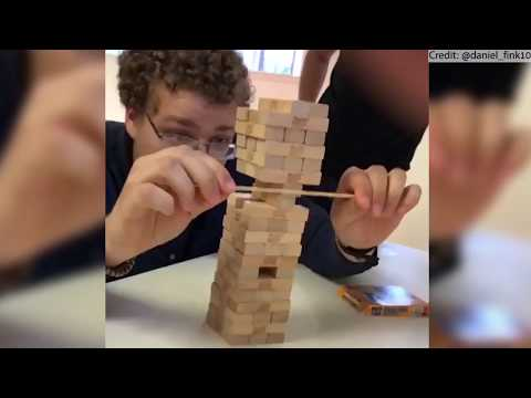 MOST EPIC JENGA MOVE EVER!