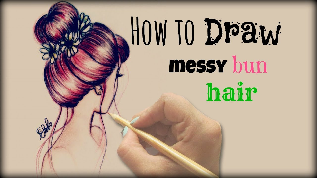 Back of Head Hair Drawing Drawing Tutorial ❤ How to