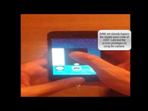 Apple iOS v7.0 iPhone 5S & iPad2 Device - Local Passcode Bypass Vulnerability