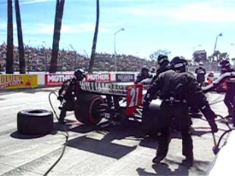 Ryan Hunter-Reay's Second Long Beach Pit Stop - Rear Angle