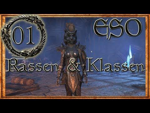 The Elder Scrolls Online - Alle Rassen/Boni / Klassen Charaktererstellung [ESO Beta German Gameplay]