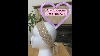 Download How to crochet HEADBAND 3Gp Mp4