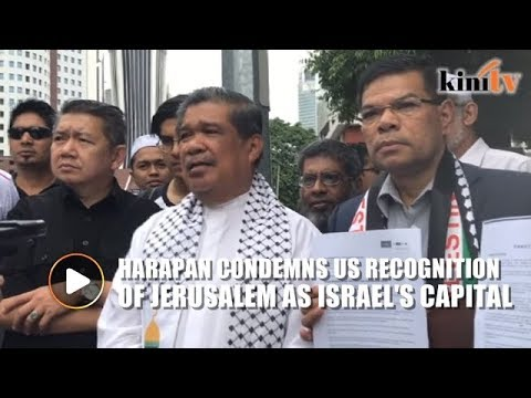 Harapan sends memorandum to US embassy, condemns Trump's Jerusalem move