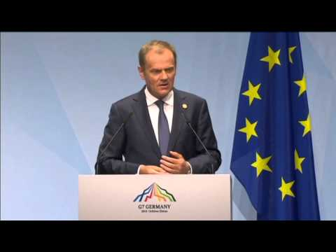 Tusk Slams Russian Aggression in Ukraine: EU Council President says Russia does not share G7 values