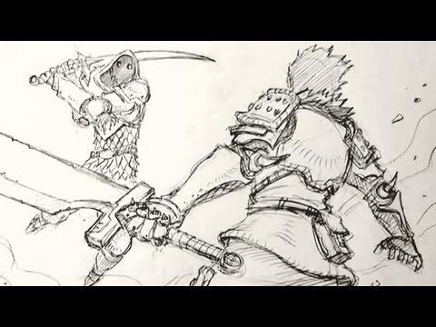 Видео как нарисовать сражение