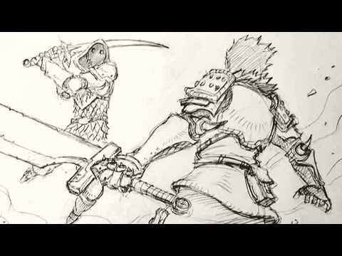 Sword Fighter Drawing How to Draw Fight Scenes