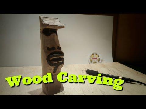 ✔DDW-22: Walnut Tiki Carving/Burning