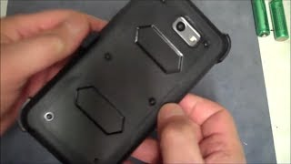 HOW TO INSTALL Samsung Galaxy J7 V Case, J7 Perx, Shockproof Rugged Hybrid Armor Case w Belt Clip