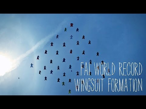 FAI - World Record Wingsuit Formation