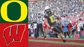 #6 Oregon vs #8 Wisconsin Rose Bowl First Half Highlights | 2020 College Football Highlights