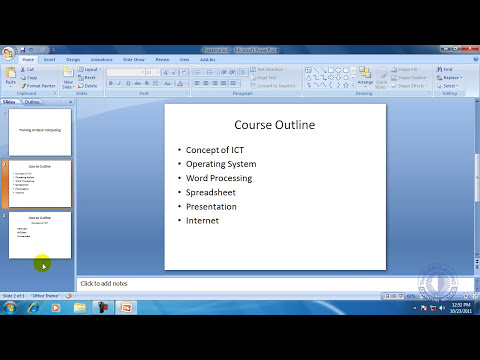 MS Office PowerPoint 2007 Bangla Tutorial 1