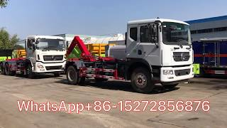 12T 20T Roll on roll off truck (hook loader) with compressed garbage container