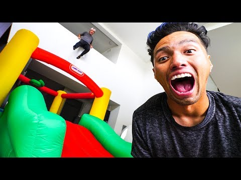SURPRISING BEST FRIENDS WITH INDOOR BOUNCE HOUSE!!!