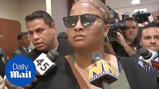 Mother of missing Maleah Davis is heckled as she leaves court