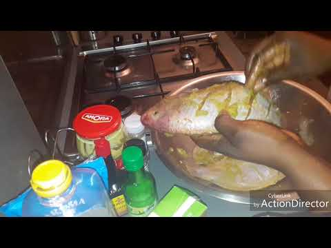 Recette du Poisson braisé ( comment mariner le poisson tilapia rouge)