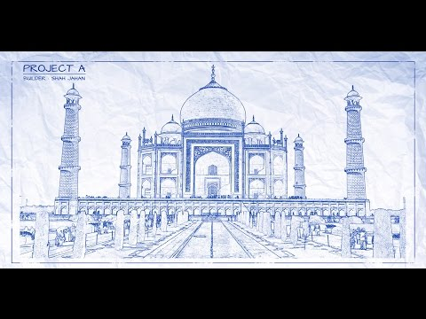 Photoshop Tutorials - How To Transform a Photo To Architect's BLUEPRINT Drawing - Photoshop Tutorial