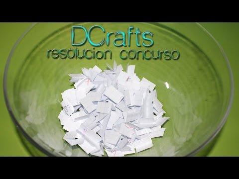 RESOLUCIÓN DE EL PRIMER SORTEO CONCURSO GRATUITO DE DCRAFTS FELICIDADES