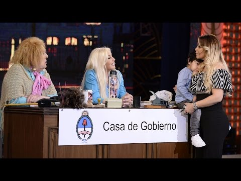 Verónica Ojeda llevó a Dieguito Fernando a lo de Susana Giménez y Dalma la castigó