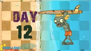 Plants vs Zombies 2 - Big Wave Beach - Day 12 [Surfer Zombie English] No Premium