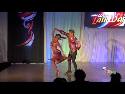 RAFAEL BARROS & CARINE MORAIS, BRASIL, FINAL ROUND, SALSA COUPLE ON 1, WLDC 2014