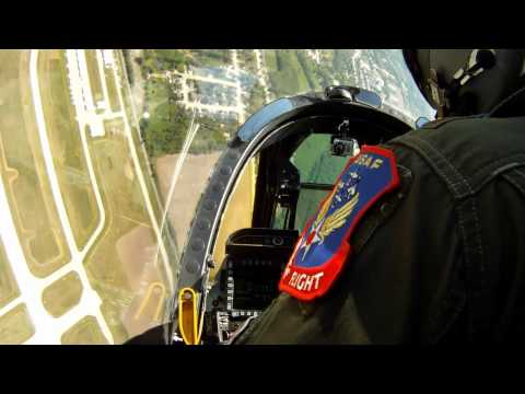 A-10 Warthog Thunderbolt II - Dylan Habu Thorpe of A-10 East Demo Flight at Manitowoc WI 2011