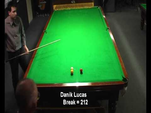 Danik Lucas 355 break billiards century 2010 awesome TOTT