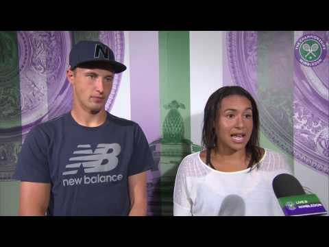 Heather Watson and Henri Kontinen quarter-final press conference