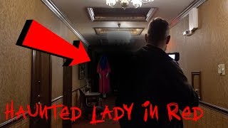 HAUNTED LADY IN RED AT 3AM - GHOST APPEARS!